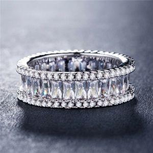 925 Silver Emerald Cut White Sapphire New